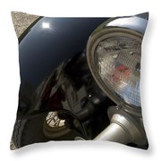 Close View Of The Headlight Throw Pillow