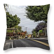 Closed On Sundays - Amish Country Throw Pillow