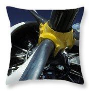 Closeup Of A Military Grumman Tracker Throw Pillow
