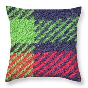 Closeup Of Multi-colored Fabric Throw Pillow
