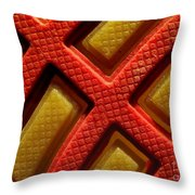Closeup View Of Sneaker Sole Throw Pillow