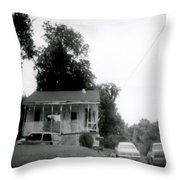 Clothesline On The Porch Throw Pillow