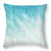 Cloud And Blue Sky On Old Grunge Paper Throw Pillow