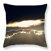 Cloud Lines Throw Pillow