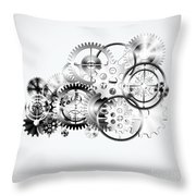 Cloud Made By Gears Wheels  Throw Pillow