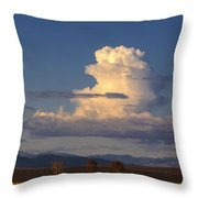 Cloud Over San Luis Valley Throw Pillow