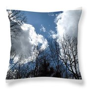 Cloud Panorama Throw Pillow