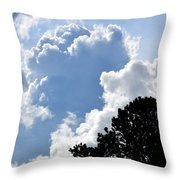 Cloud Power Throw Pillow