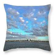 Cloud View From The Old Fort Throw Pillow