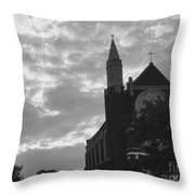 Clouded Places Throw Pillow