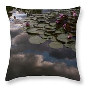 Clouded Pond Throw Pillow