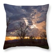 Clouded Sunset Throw Pillow