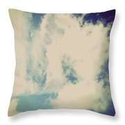 Clouds-5 Throw Pillow
