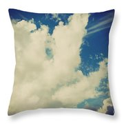 Clouds-7 Throw Pillow