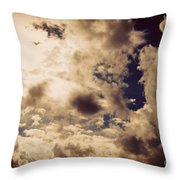 Clouds-8 Throw Pillow