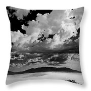Clouds Above White Sands Throw Pillow