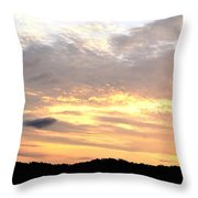 Clouds Afire Throw Pillow