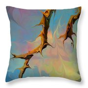 Clouds And Branches Of Life Throw Pillow