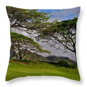 Clouds And Kiawe Throw Pillow