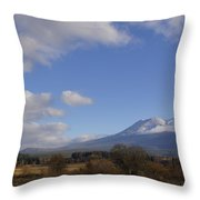 Clouds And Mt Shasta In Autumn Throw Pillow