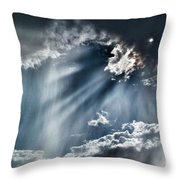 Clouds And Sky Throw Pillow