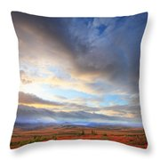 Clouds At Sunrise At The Arctic Circle Throw Pillow