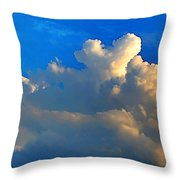 A Heart On Top Of The Clouds Throw Pillow