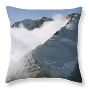 Clouds Drif Through Peaks Of The Queen Throw Pillow