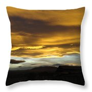Clouds Illuminated At Sunset Throw Pillow