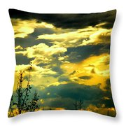 Clouds Of Many Colors Throw Pillow