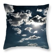 Clouds On A Sunny Day Throw Pillow