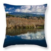 Clouds On The Klamath River Throw Pillow