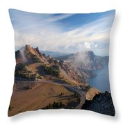 Clouds On The Ridge Throw Pillow