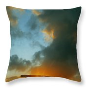 Clouds Over A Tomb, Poulnabrone Dolmen Throw Pillow