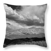Clouds Over Breckenridge Colorado Throw Pillow