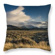 Clouds Over East Humboldts Throw Pillow