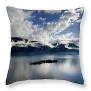 Clouds Over Islands Throw Pillow