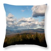 Clouds Over New Hampshire Throw Pillow