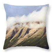 Clouds Over Porphyry Mountain Throw Pillow
