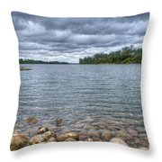 Clouds Over The American River Throw Pillow
