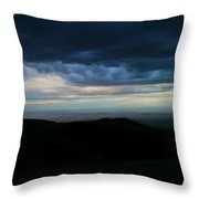 Clouds Over The Bitteroots Throw Pillow