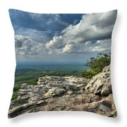 Clouds Over The Cliff Throw Pillow
