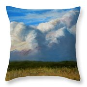 Clouds Over The Meadow Throw Pillow
