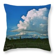 Clouds Over The North Forty Throw Pillow