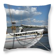 Clouds Over The River  Throw Pillow