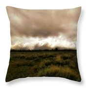 Clouds Over The Tetons Throw Pillow