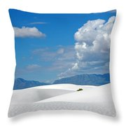 Clouds Over The White Sands Throw Pillow