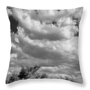Clouds Rising Bw Palm Springs Throw Pillow