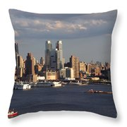 Clouds Rolling In On New York City Throw Pillow