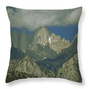 Clouds Shadow Rocky Mountain Peaks Throw Pillow